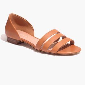Madewell Leila Triple Strap Sandal -English Saddle